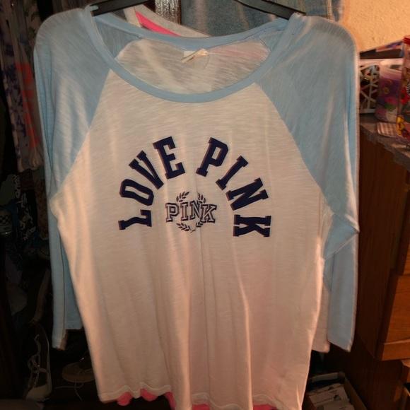Pink baseball tee